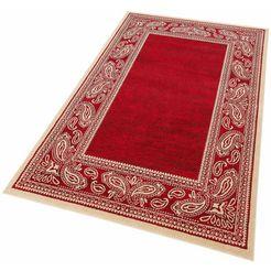 my home vloerkleed maite met randdessin, woonkamer rood