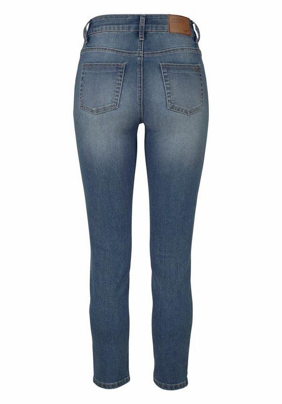arizona high waist jeans 7 8 slimfit online bij otto. Black Bedroom Furniture Sets. Home Design Ideas