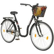 performance citybike met lage instap »66,04 cm (26 inch), 71,12 cm (28 inch)«, 26-28 inch, 1 versnelling, terugtraprem zwart