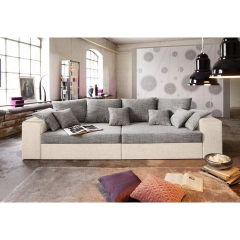 woonkamer extra groot bankstel beige Megabank ook met slaapfunctie 96