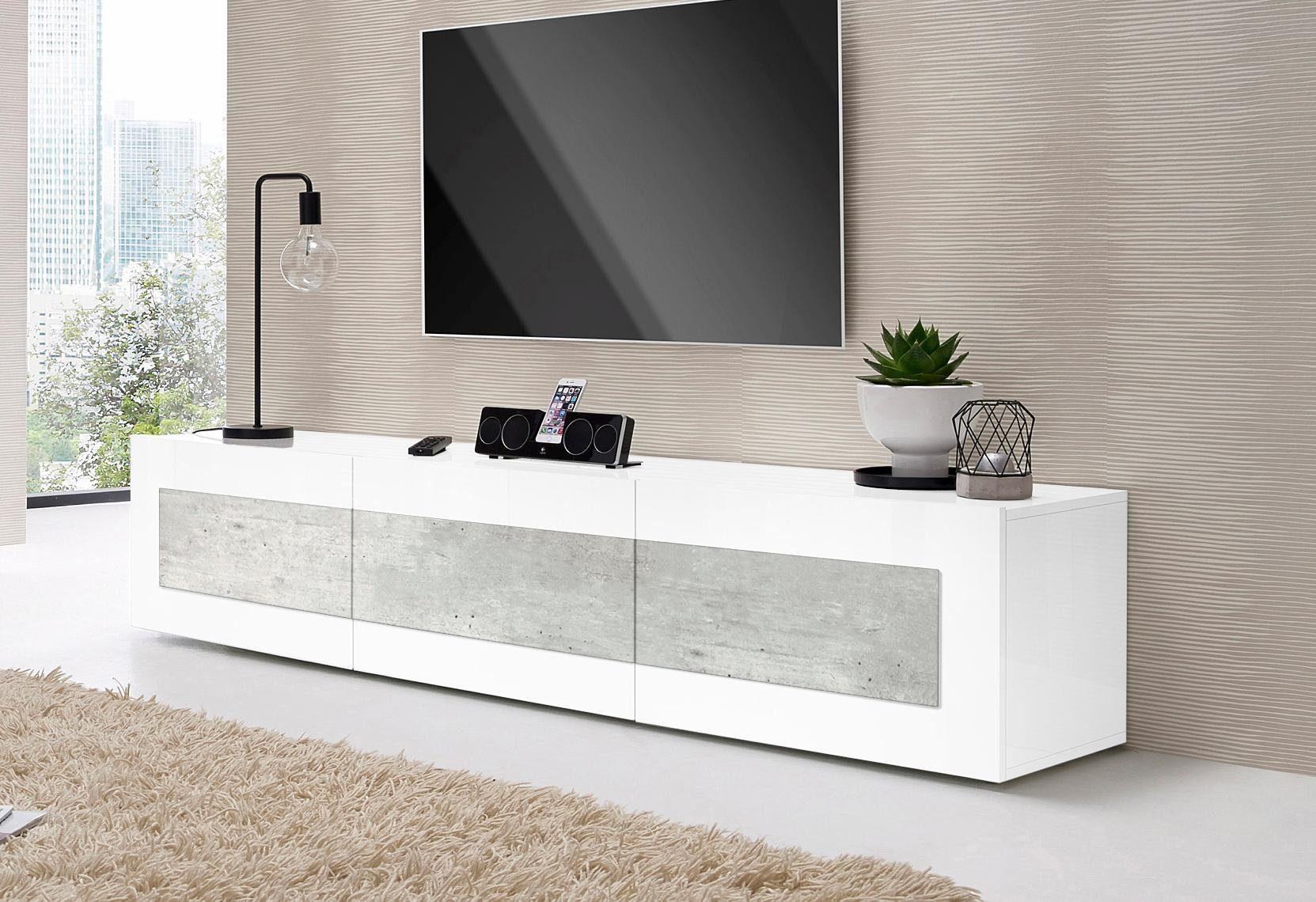 Tv dressoir wit grijs haard co sfeerhaarden en woonaccessoires