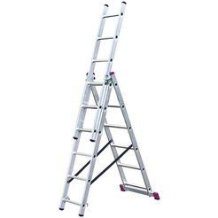krause multifunctionele ladder »multifunctionele ladder, driedelig«, met trapfunctie zilver