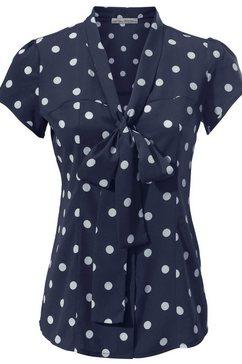 blouse met stippen blauw