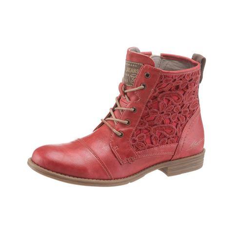 Dames schoen: MUSTANG SHOES hoge veterschoenen