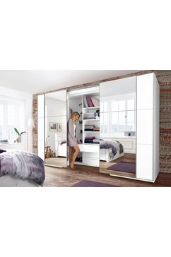 Toegankelijke zweefdeurkast met spiegeldeuren