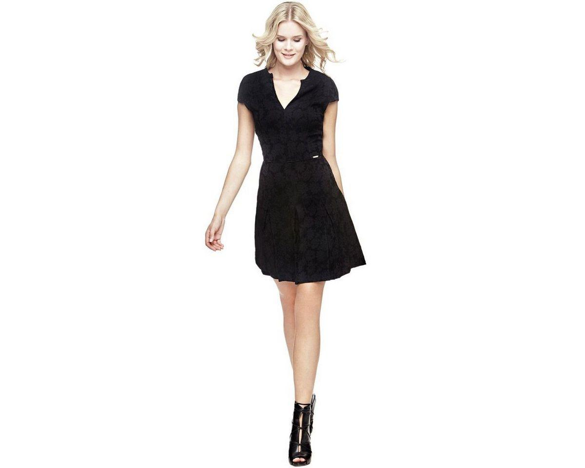 NU 21% KORTING: Guess jurk met bloemmotief zwart