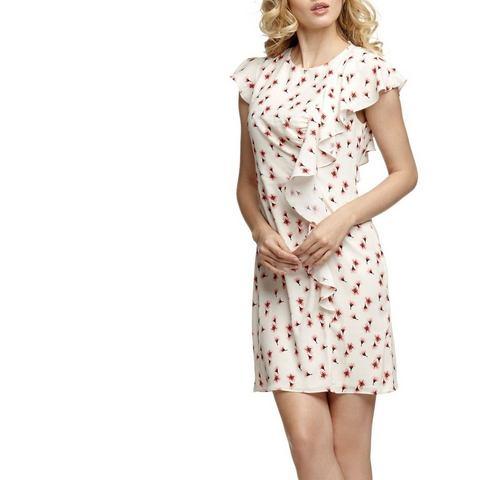 Picture GUESS jurk in bloemdessin met volants wit 490705