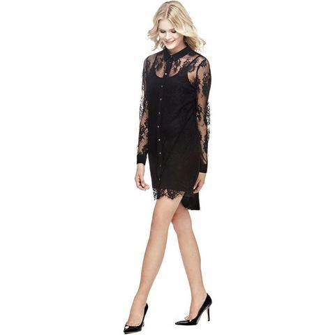 Picture GUESS jurk met overhemdkraag en kant zwart 364025