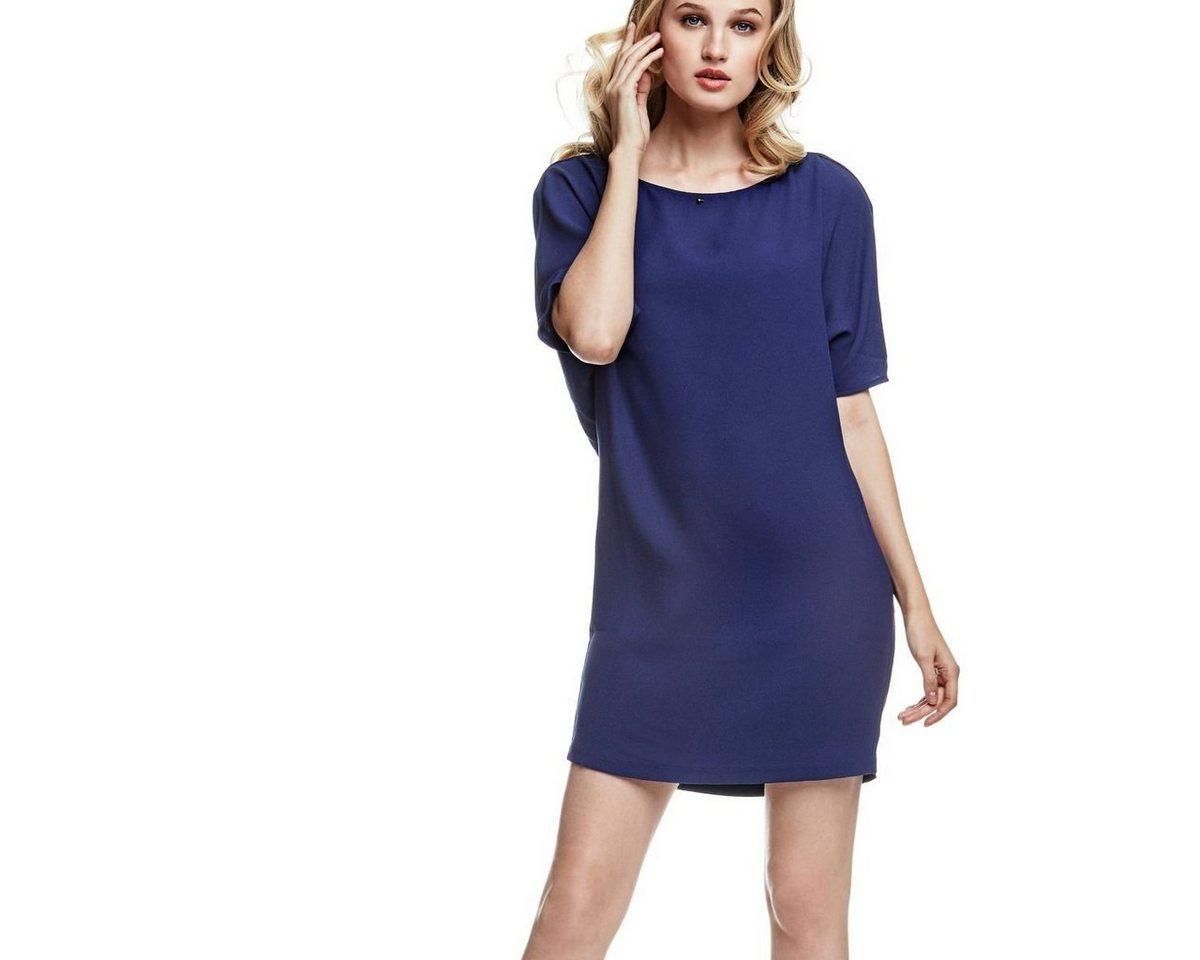 Guess jurk met rugdecolleté blauw