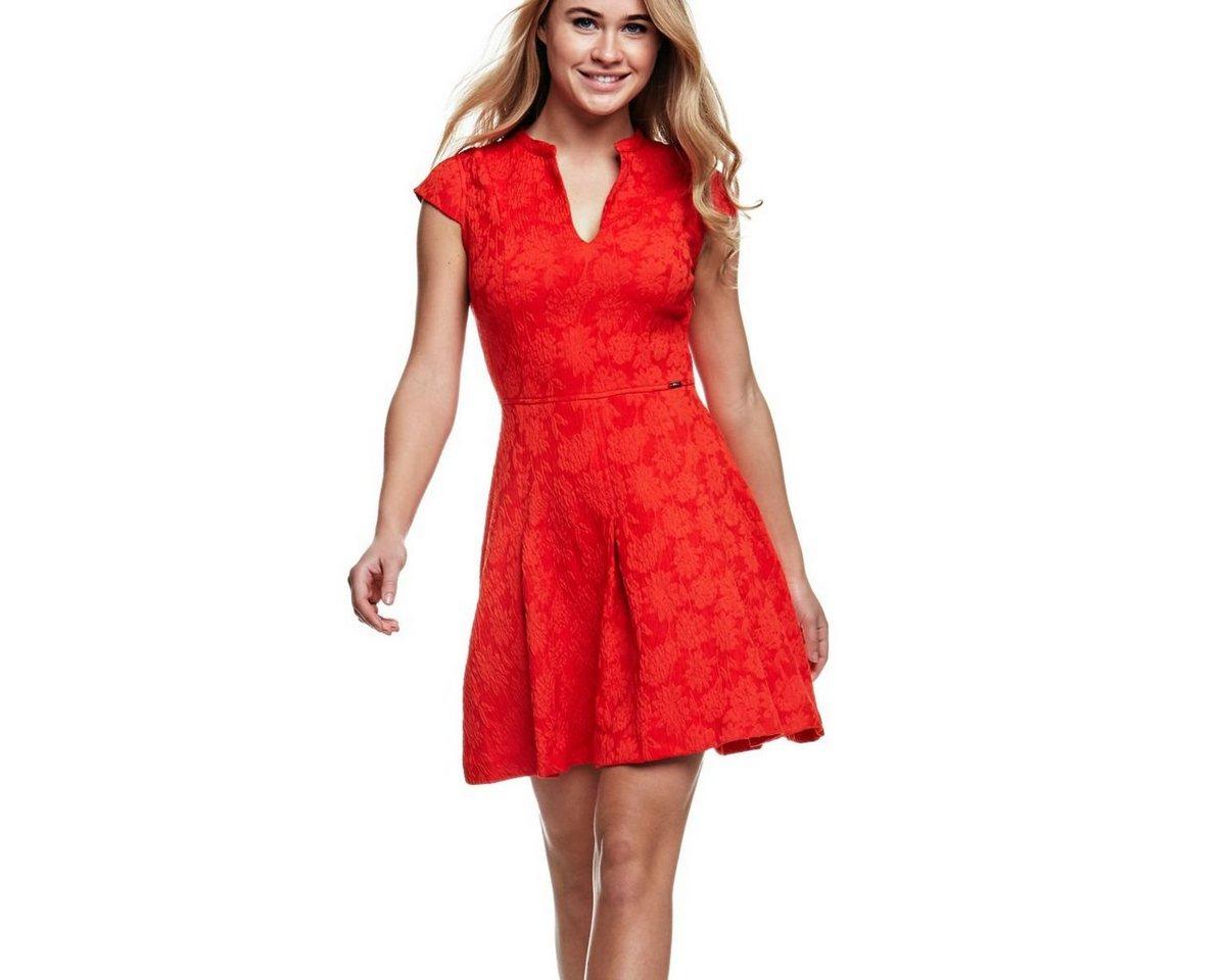 Guess jurk met bloemmotief rood