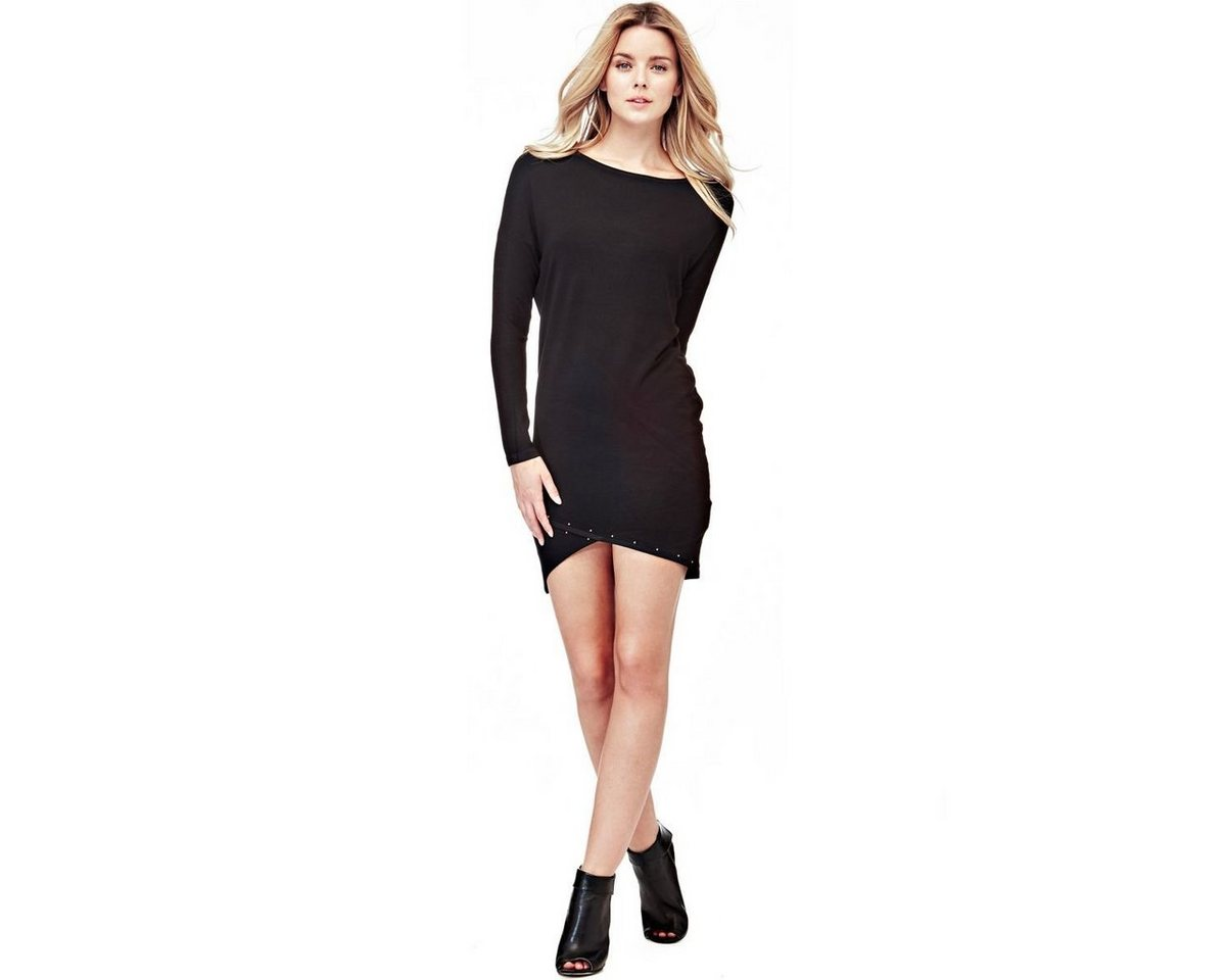 Guess jurk met gekruiste zoom zwart
