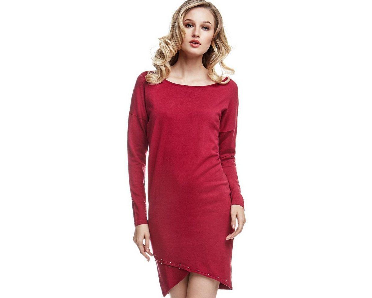 Guess jurk met gekruiste zoom rood
