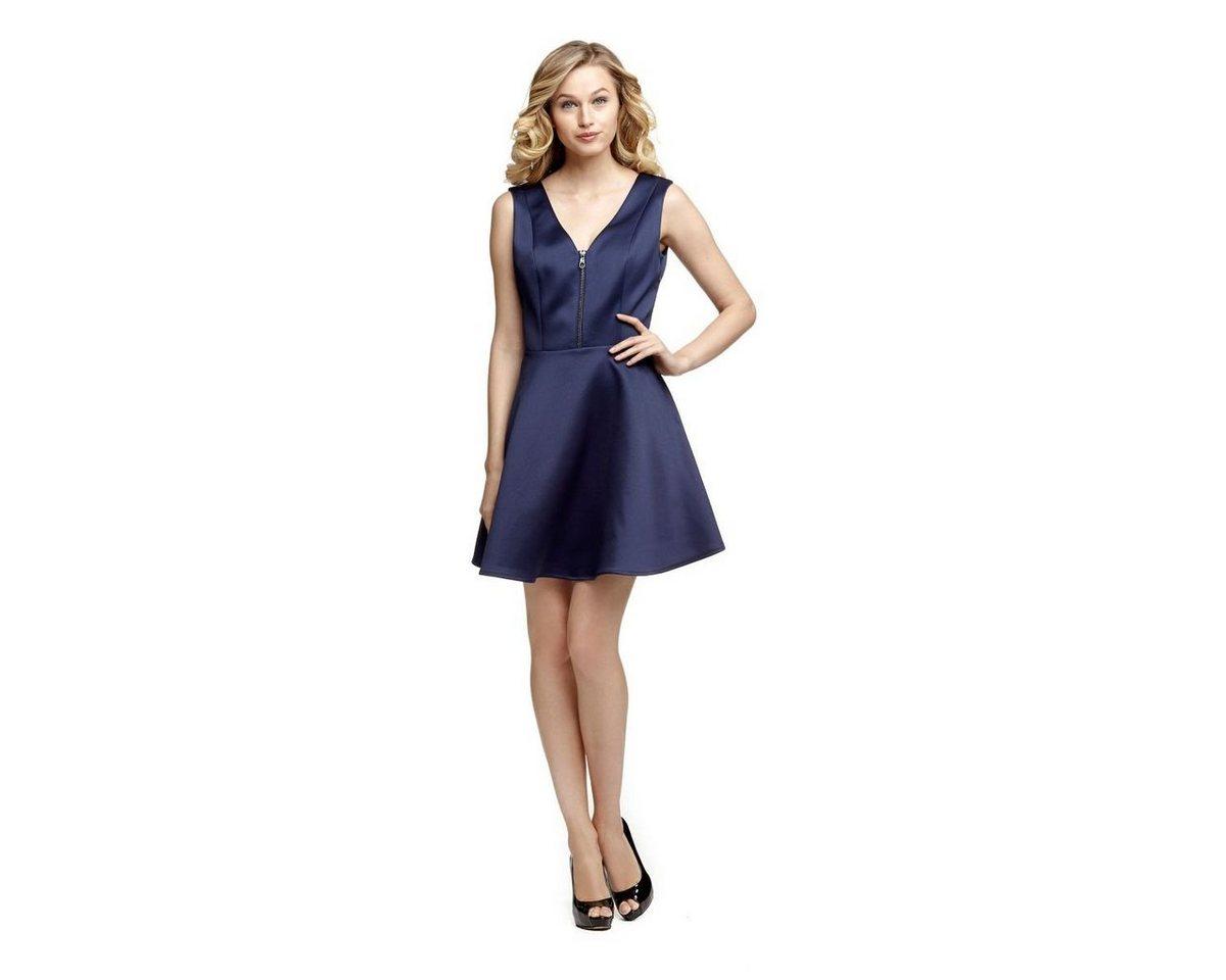 Guess jurk met cirkelrok en ritssluiting blauw