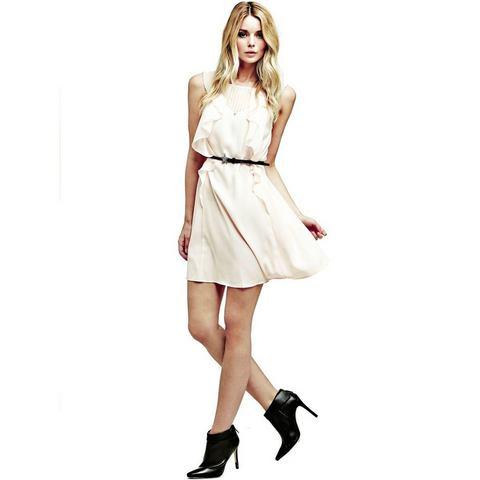Picture GUESS jurk in animal-look en met volants roze 587104