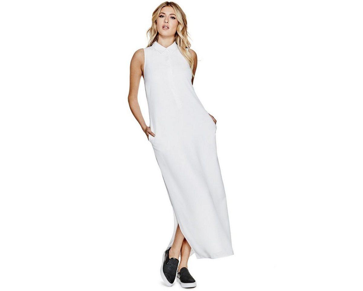 Guess jurk met overhemdkraag wit