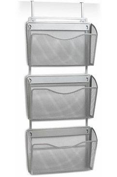 zeller present lectuurstandaard mesh tijdschriftenhouder voor wand - deur grijs