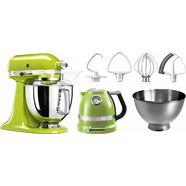 kitchenaid keukenmachine artisan 5ksm175psega, appelgroen, met gratis accessoire t.w.v. ca. €307 groen