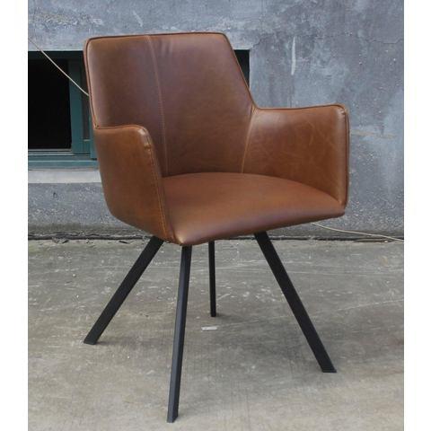 SIT fauteuil Norfolk, met frame van stalen buis (set van 2)