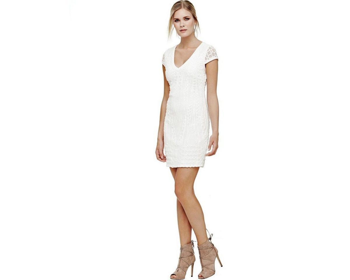 Guess mini-jurk met inzetten wit
