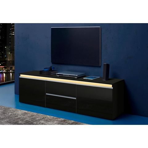 tecnos lowboard breedte 180 cm zwart tv kast 161. Black Bedroom Furniture Sets. Home Design Ideas