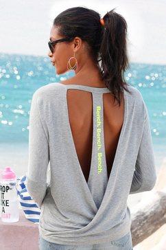 bench strandshirt met lage ruglijn grijs
