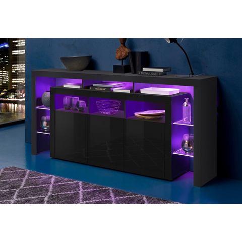 Sideboard breedte 192 cm hoogglans-zwart  dressoir 171