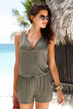 short-jumpsuit met ritsdetail