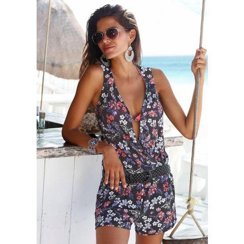 NU 15% KORTING: S.OLIVER RED LABEL Beachwear jumpsuit met bloemenprint