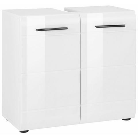 Wastafelonderkast Skin met hoogglanzend oppervlak witte badkamer onderkast 307