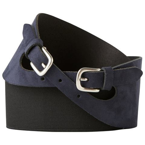 NU 15% KORTING: TOM TAILOR riem »suede waist belt with stretch part«