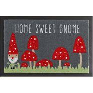 mat, hanse home, »home sweet gnome«, met antislip-coating, getuft grijs