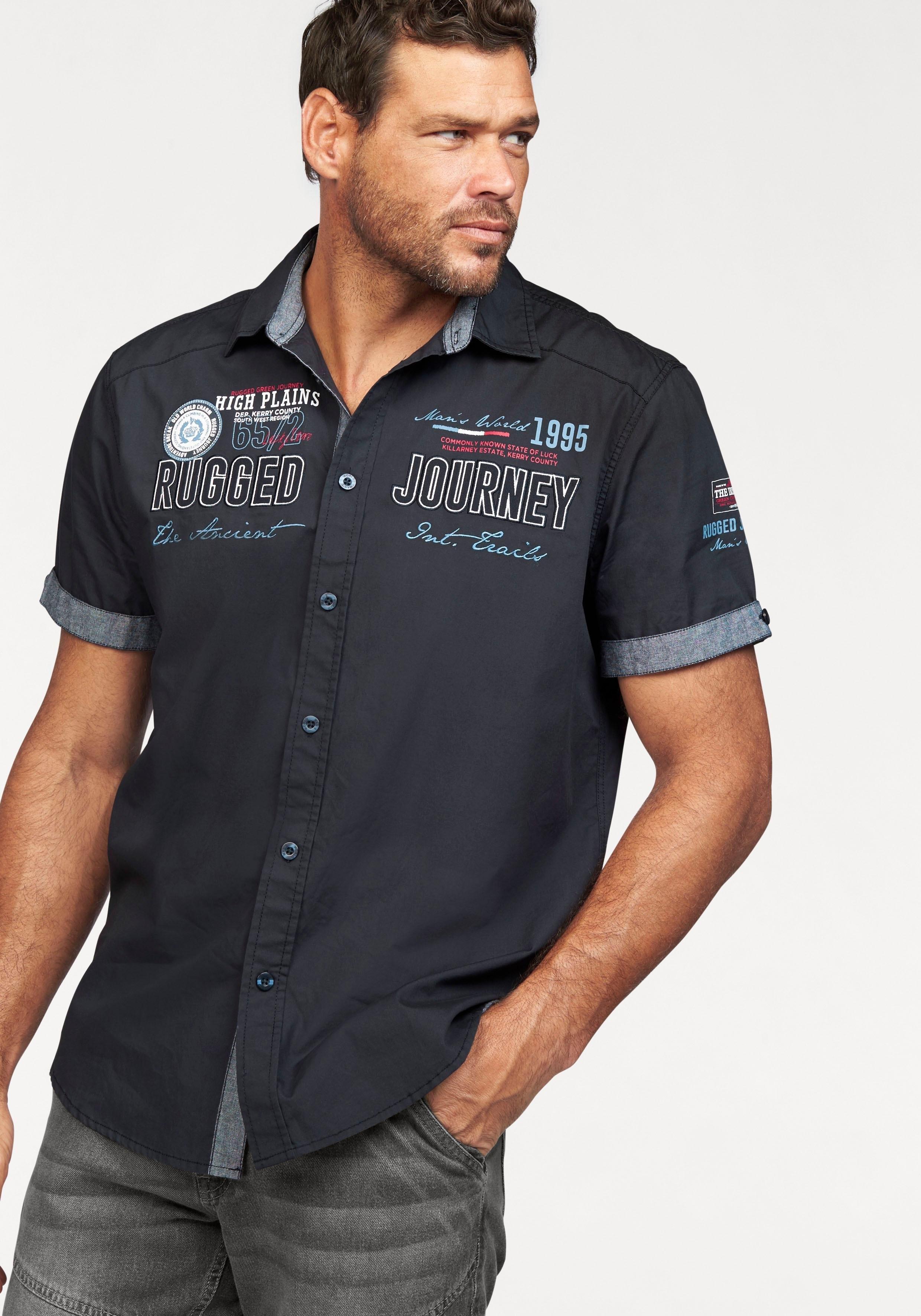 Man's World overhemd met korte mouwen nu online kopen bij OTTO
