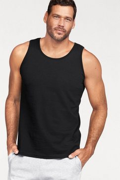 fruit of the loom muscle-shirt in set van 2 zwart