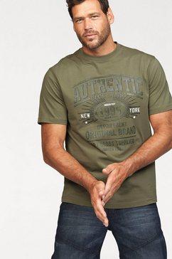 man's world t-shirt prettig materiaal met een optimale pasvorm groen