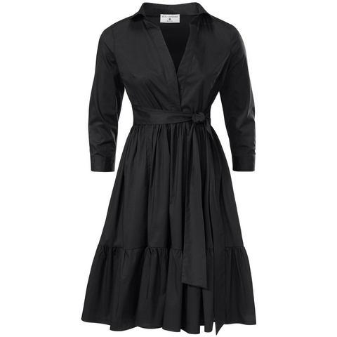 jurk met overhemdkraag zwart