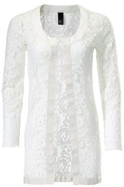 blazer met kant wit