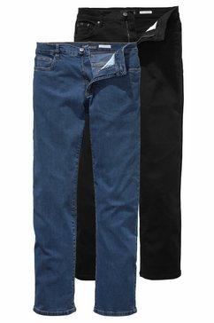arizona stretch jeans john straight fit (set, 2-delig) multicolor