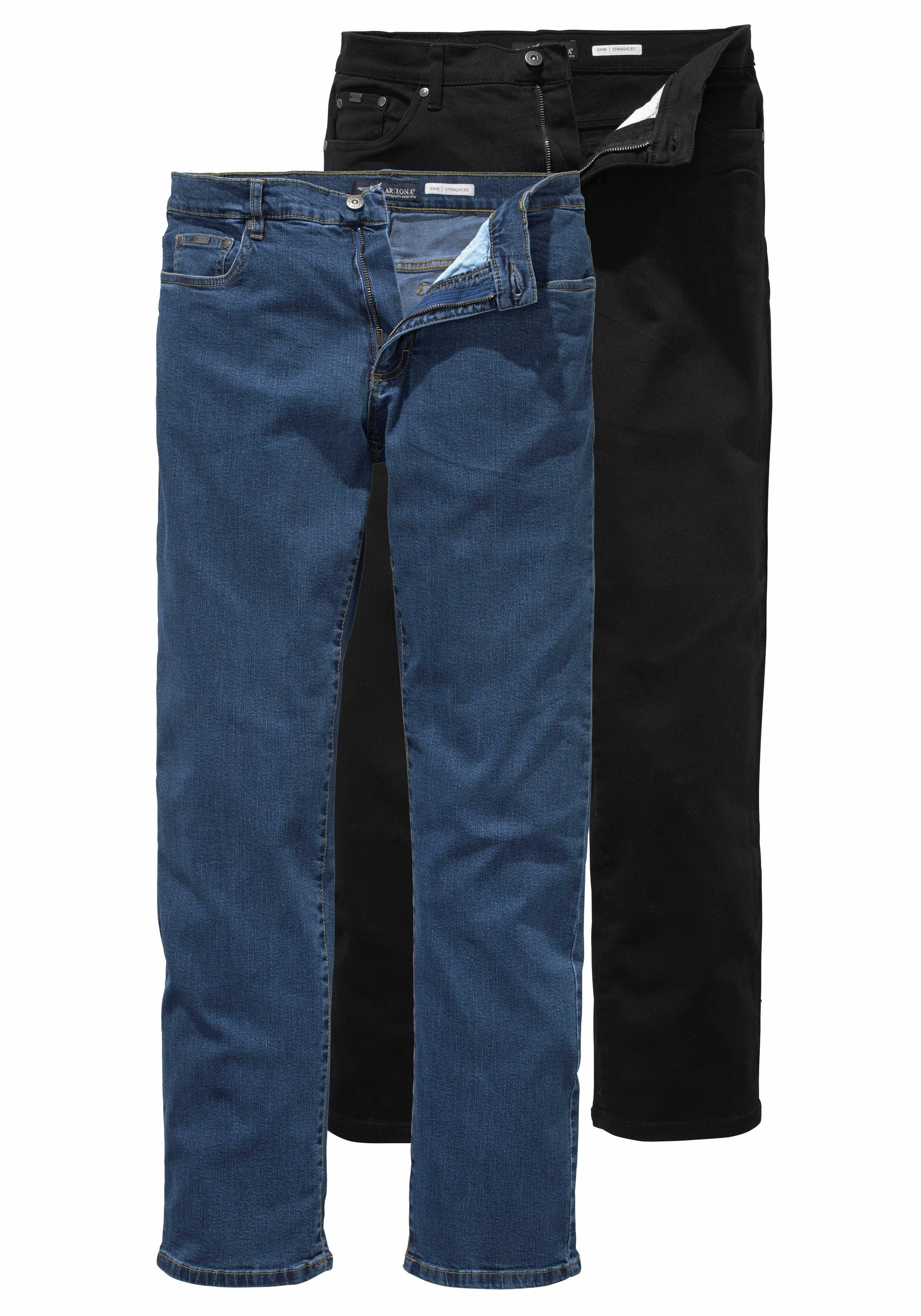 Arizona stretch jeans John Straight fit (set, 2-delig) voordelig en veilig online kopen