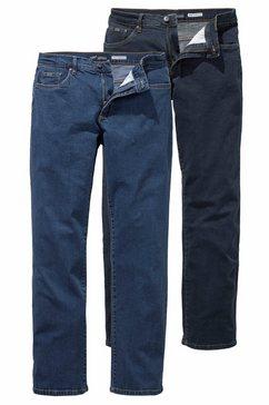 arizona stretch jeans john straight fit (set, 2-delig) blauw