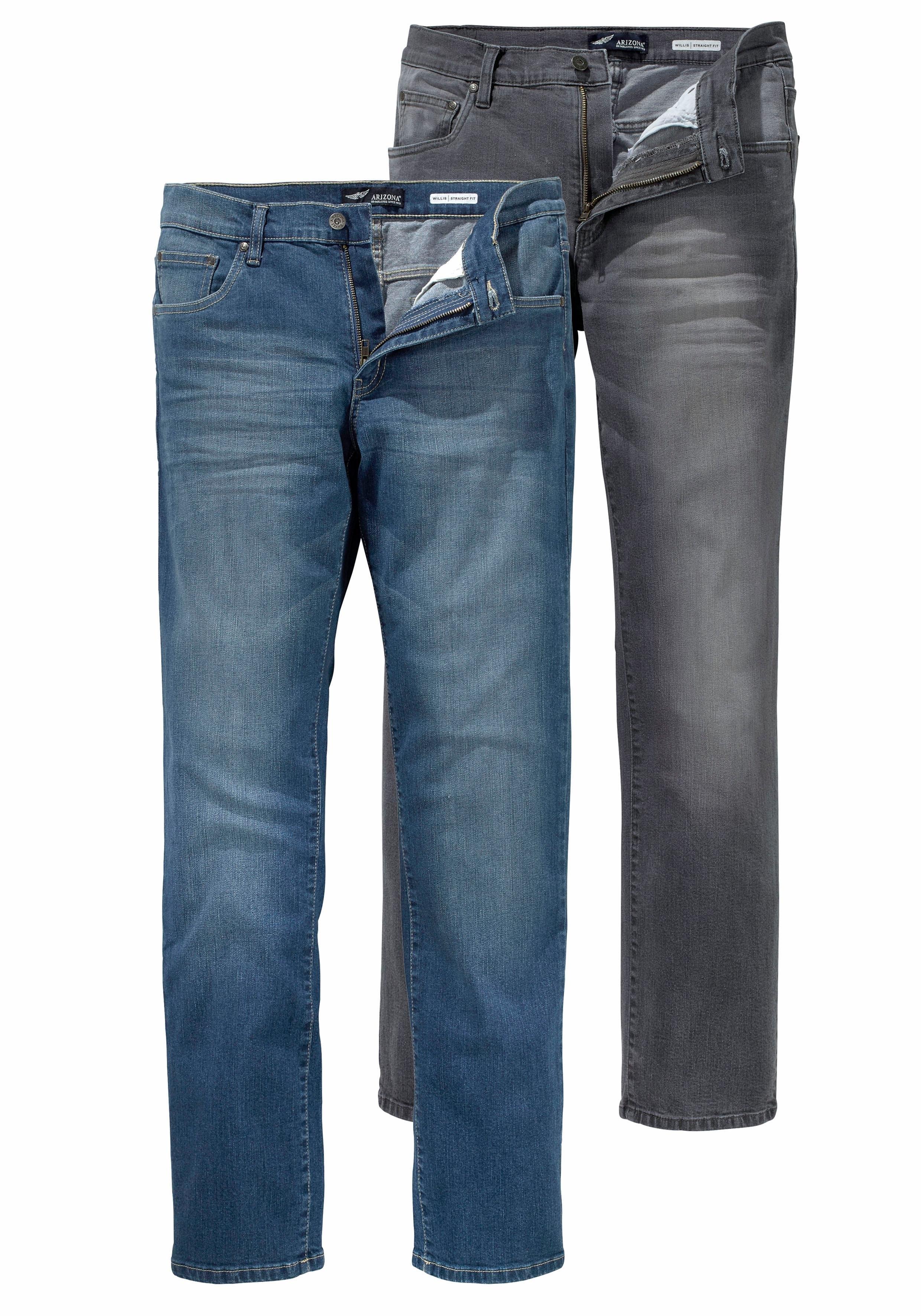 Arizona Stretch jeans Willis Straight fit (set, 2-delig) nu online kopen bij OTTO