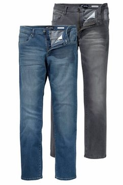 arizona stretchjeans »willis« (set, 2-delig) blauw