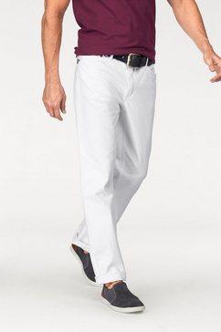 arizona comfort-jeans met ritssluiting wit