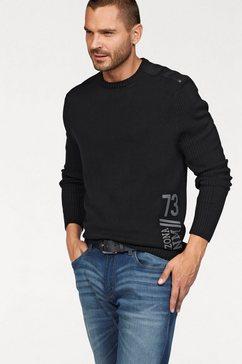 arizona trui met ronde hals met print opzij zwart