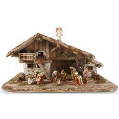 hoogwaardige kerstkribbe, made in germany bruin