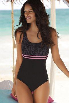 venice beach badpak met trendy logoprint zwart