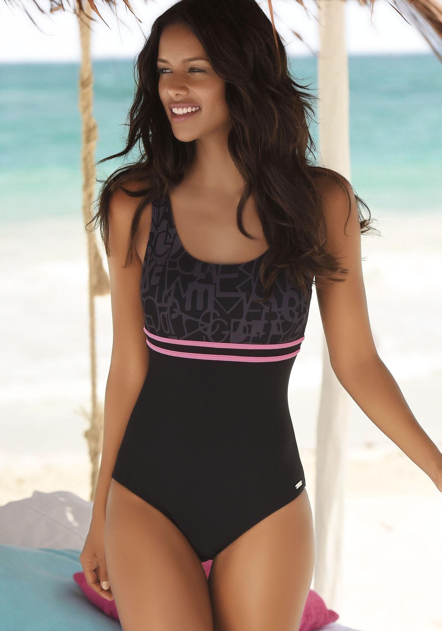 2f0ce2d85543df Venice Beach badpak met trendy logoprint online bestellen | OTTO