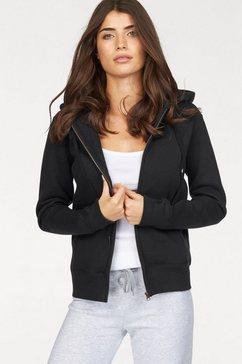 fruit of the loom capuchonsweatshirt »lady-fit premium hooded sweat jacket« zwart