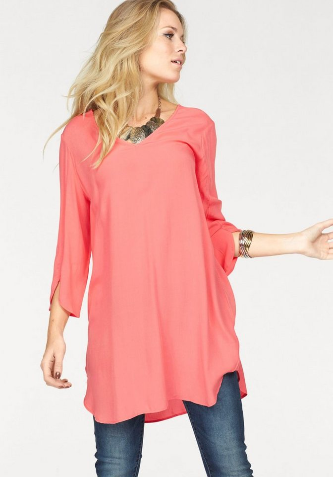 VERO MODA lange blouse BOCA roze