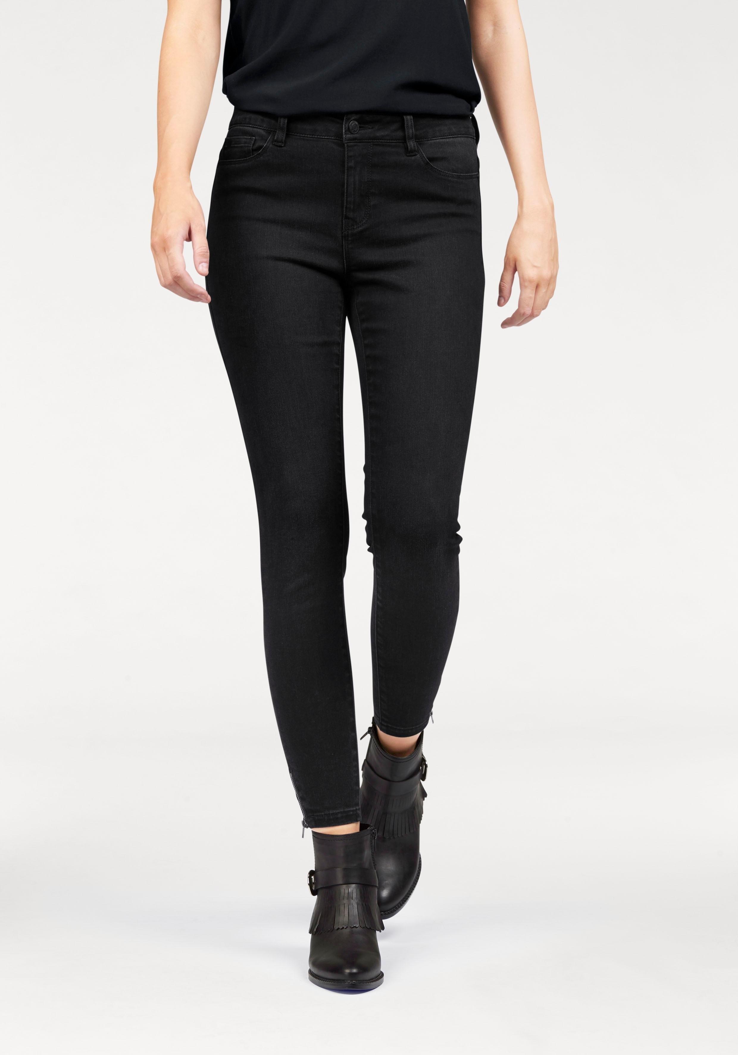 VERO MODA skinny-jeans »SEVEN ANKLE ZIP« nu online kopen bij OTTO