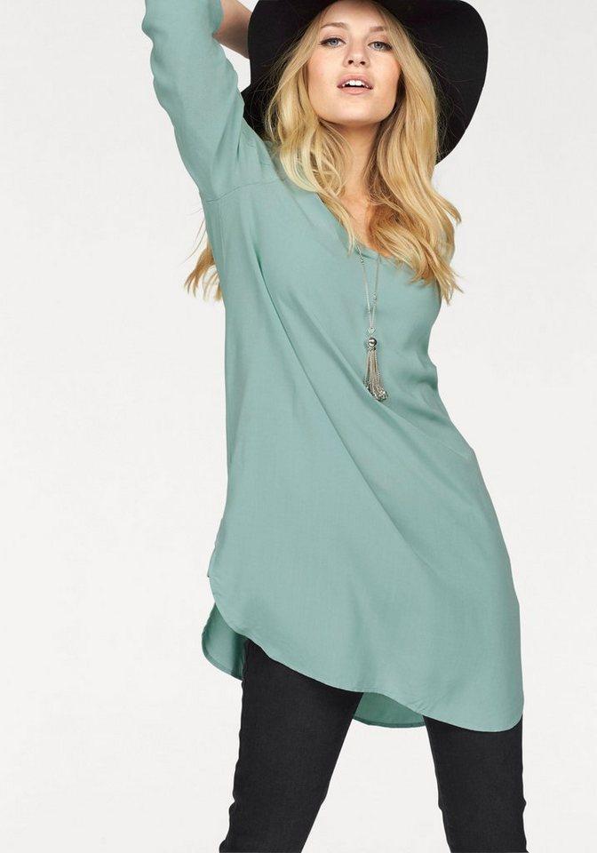 NU 21% KORTING: VERO MODA lange blouse BOCA blauw